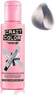 صبغة شعر مؤقتة كريزي كلر لون فضي بلاتيني - Platinum Crazy Color