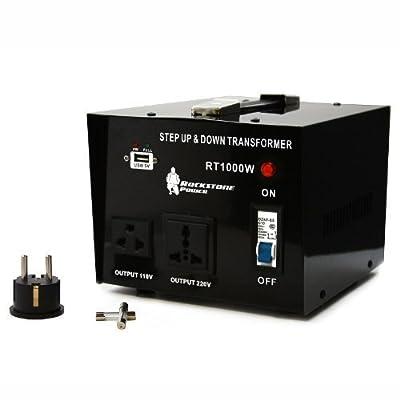 Rockstone Power Heavy Duty Step Up/Down Voltage Transformer Converter - Step Up/Down 110/120/220/240 Volt - 5V USB Port - CE Certified - Now
