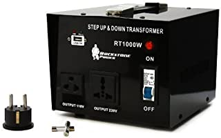 Rockstone Power 1000 Watt Voltage Converter Transformer - Heavy Duty Step Up/Down AC 110V/120V/220V/240V Power Converter - Circuit Breaker Protection – DC 5V USB Port - CE Certified [3-Year Warranty]