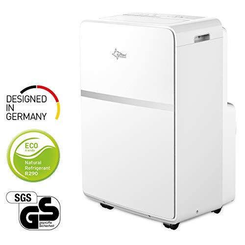 Mobiles lokales Klimagerät Advance 12.0 Eco R290 | für Räume bis 60 m2 | inkl. Abluftschlauch | Kühler und Entfeuchter mit ökologischem Kühlmittel R290 | 12.000 BTU/h | Suntec Wellness