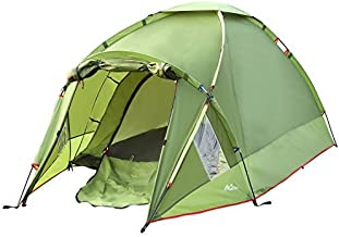 MoKo Waterproof Family Camping Tent, Portable 3 Person Outdoor Instant Cabin, 4-Season Double Layer, Army green