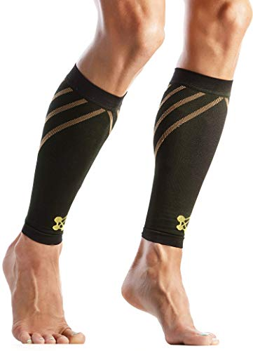 CopperJoint Compression Calf Sleeve–Copper-Infused High-Performance Design, Promotes Proper Blood Flow, Offers Superior Compression and Support for All Lifestyles - Pair (Large)