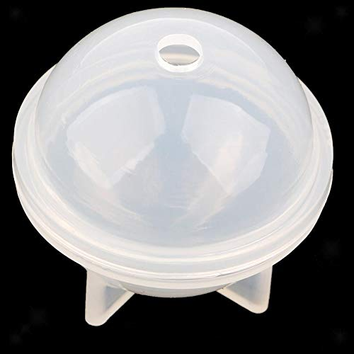 Sphere siliconen mal papiergewicht voor ronde hars ambachtelijke epoxy, sieraden maken, kaars was, zelfgemaakte zeep, doe-het-zelf plastic bad bom mal 60mm