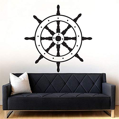 pegatinas de pared personalizadas Rueda de la nave decoración calcomanía náutica marinero nave náutica pegatinas náuticas