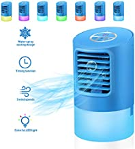 Personal Air Cooler, VOSAREA Portable Air Conditioners Fan Mini Space Evaporative Air Cooler with 3 Wind Speeds Small Desktop Cooling Fan Quiet Air Humidifier Compact Air Cooler for Room, Home, Office
