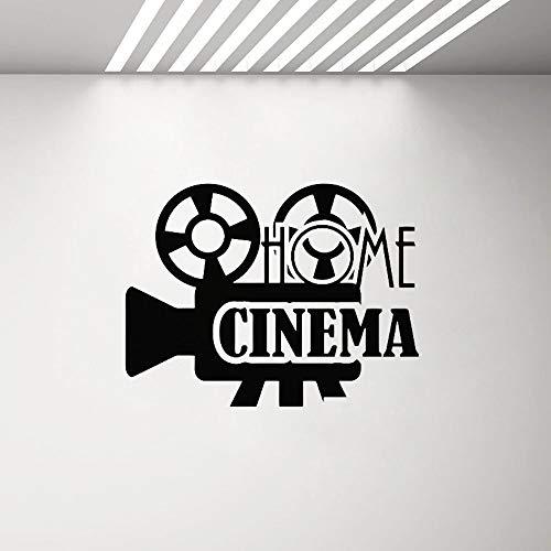 Heimkino Wandtattoo Film Filmplakat Aufkleber Theater Zeichen Spielzimmer Wohnzimmer Vinyl Aufkleber Film Strip Art Wandbild Dekoration A8 55x42cm