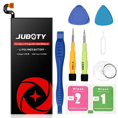 JUBOTY Galaxy S7 Edge Battery Replacement Upgraded 3800mAh Li-Polymer Battery EB-BG935ABE for Samsung Galaxy S7 Edge G935V G935A G935T G935F G935P with Repair Tool Kit