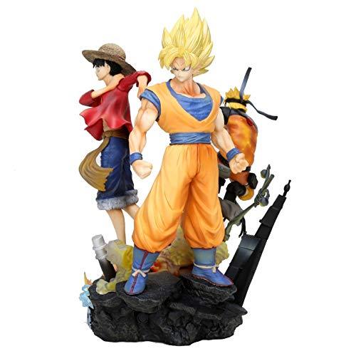 25cm Jump Force Dragon Ball Z UNA Pieza Naruto PVC Figura de acción Luffy Son Goku Figurita de Juguete Uzumaki Naruto Modelo de Juguete