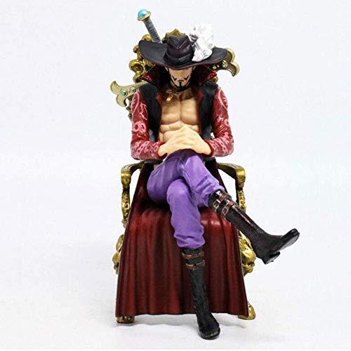 ZJZNB Anime Figur Modell Spielzeug One PieceDracule Mihawk Qiwuhai Dekoration Kollektion PVC