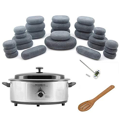 Hot Stone Warmer Zabrina Massage Stones Warmer HOT STONE MASSAGE KIT: 27 Basalt Stones + 6.5 Quart Hot Stone Heater