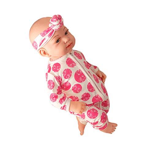 SM SunniMix 45 cm Weiche Vinyl Weichkörper Babypuppe Neugeborene Funktions-Baby-Puppe Spielzeug Kinder Geburtstagsgeschenk - A