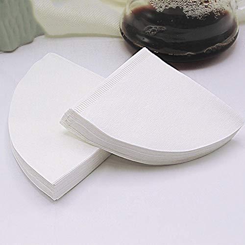 HNKPWY 50 Stück/Beutel Holz Original Hand Tropfpapier Kaffeefilter Weiß Espresso Kaffeefilter Tee Aufguss Zubehör Küchenutensilien