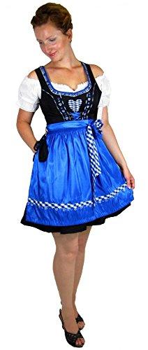 Country Life Trachtenmode Damen Dirndl Trachten Dirndlkleid schwarz/blau Größe 36