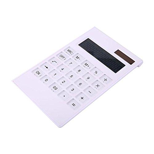 10-cijferige elektronische rekenmachine, witte eenvoudige bureaubladrekenmachine, kristallen knop elektronische rekenmachine, Office Business goede hulp