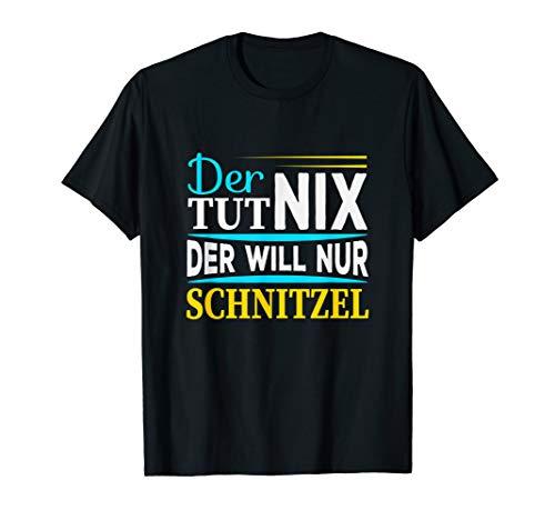 Der tut nix der will nur Schnitzel I Lustiger Spruch Männer T-Shirt