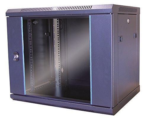 Waytex 37401M wandverdeler 19 inch 6 U met glazen deur, 600 x 450 mm, zwart