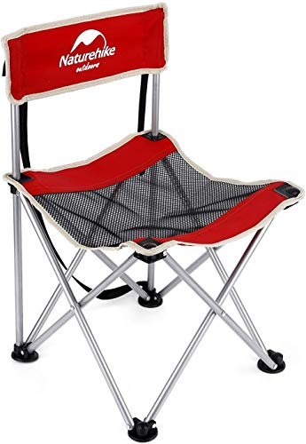 Außen Klappstuhl, Ultralight beweglicher Freizeit-Stuhl/Angeln Hocker - Sketching Lehrstuhl for Barbecue Camping Picknick Wandern ZTJ (Color : Red)