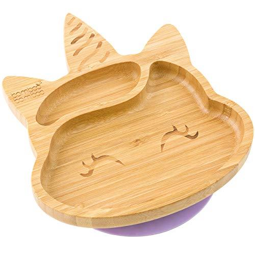 Bamboo Bamboo® Teller mit Saugnapf, für Babys und Kleinkinder