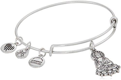 Alex and Ani Buddha II Rafaelian Silver Bangle Bracelet