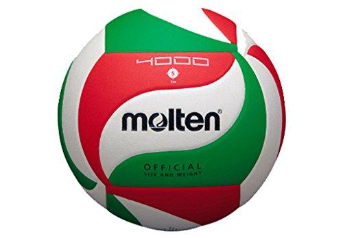 Molten Volleyball V5M4000, Weiß/Grün/Rot, 5