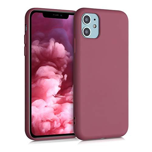 kwmobile Cover Compatibile con Apple iPhone 11 - Custodia in Silicone Effetto Gommato - Back Case Protezione Cellulare - Cipria Scuro