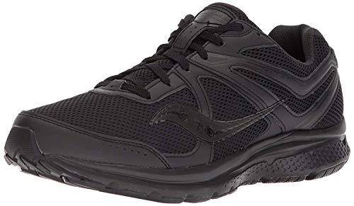 Saucony Men's Cohesion 11 Running Shoe, Black, 8 Medium US