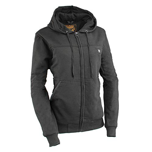 Milwaukee Performance-Women Zipper Front Heated Hoodie w/Front & Back Heating Elements and portable battery pack included-BLACK-MD 2713
