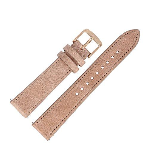 Fossil Bracelet de montre en cuir beige - 18 mm - ES-3358 | LB-ES3358