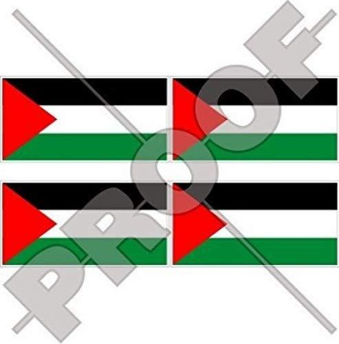 Palestine Drapeau palestinien State 5,1 cm (50 mm) Vinyle Bumper-helmet Stickers, décalcomanies X4