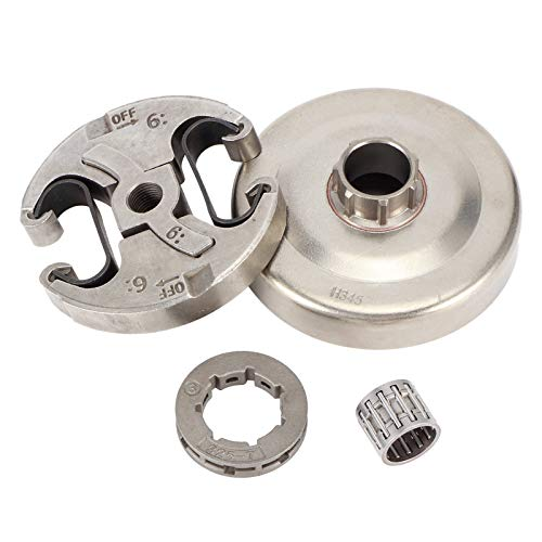 Toasses Conjunto de ensamblaje de Embrague de aleación de Zinc Set Reemplazo Accesorio de Motosierra eléctrica para Husqvarna 445 450