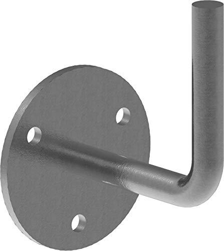 Fenau | Handlaufhalter | mit Ronde 70x4 mm | zum Anschweißen | Stahl S235JR, roh | Handlaufträger Schmiedeeisen für Handlauf/Balkongeländer oder Treppengeländer