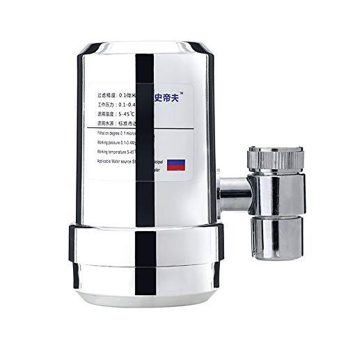 XW Grifo purificador de Agua con carbón Activado, Filtro de Agua del Grifo, filtrado de Física, fácil instalación, el Flujo de Agua, Adecuado para el hogar Cocina Baño