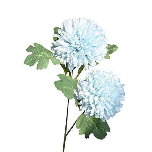 OHQ-Fausse Fleur Decoration Décoration Blanche Bleu Rose À Suspendre avec Vase Bouquet Boite Boule Cerisier Cheveux Cimetiere Coton Champetre Mariage Deco De Tiaré Soie Exterieur Exotique (A)