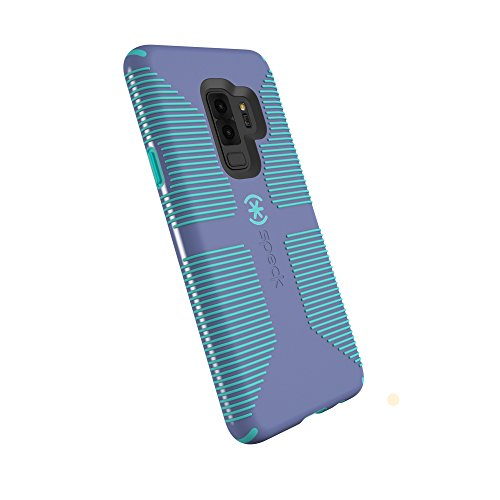 Speck Products Compatible Phone Case for Samsung Galaxy S9 Plus, Candyshell Grip Case, Wisteria Purple/Mykonos Blue