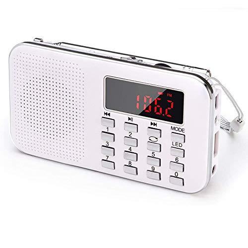 WFGZQ Radio FM, Radio Digital portátil, Reloj Despertador, Mini Receptor de Radio estéreo de sintonización Digital con Conector para Auriculares de 3,5 mm para Personas Mayores