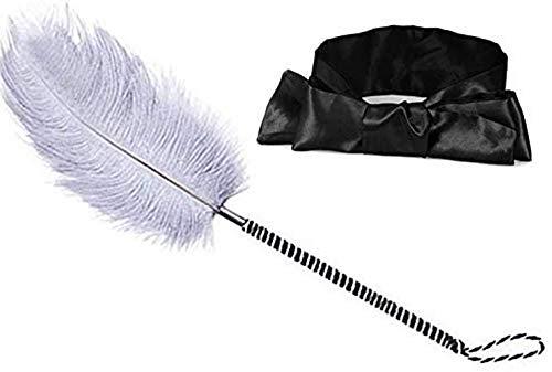 Huangte Toys Satin Blindfold Set Feather Teaser Tickler Feather GHJKLJ