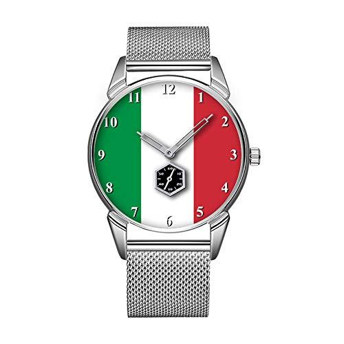 Mode wasserdicht Uhr minimalistischen Persönlichkeit Muster Uhr -483. italienische Fahnen Armbanduhren für Damen und Herren
