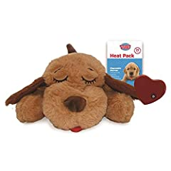 The original Snuggle Puppy, celebrating 22 years of comforting pets Helps with crate training by reducing negative behaviors such as whining and barking, which also helps YOU sleep at night Helps pets transition to their new home and reduces stress c...