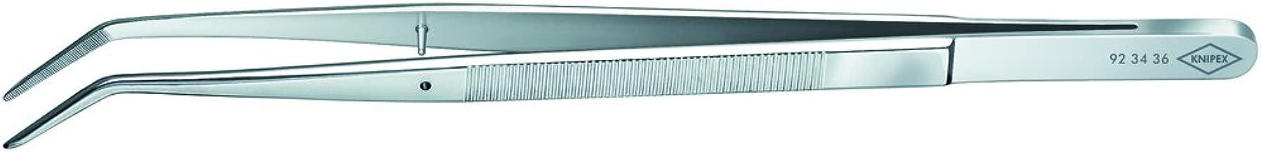 Pinzas de acero inoxidable de 7 pulgadas con punta curva serrada de Sourcingmap