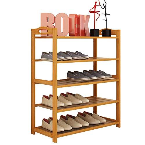ZGQA-GQA Bastidores de Zapatos de 5 gradas Zapatero Zapato del Organizador del almacenaje Gabinete Torre 27,5' x 9,8' x 34.2' Ahorro de Espacio Fácil Ensamble (Color: Natural, tamaño: 70 * 25 * 87cm)