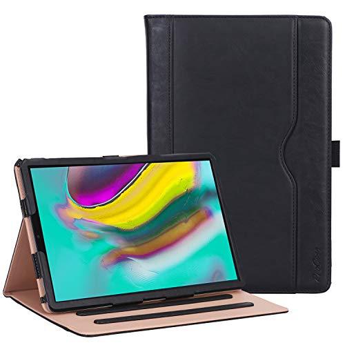ProCase Samsung Galaxy Tab S5e Folio Case 2019 (SM-T720 SM-T725) - Premium PU lederen Stand Folio Case Cover, voor Galaxy Tab S5e 10,5 Inch -Zwart