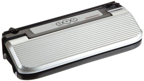 Gastroback 46007 Design Vakuumierer Basic Plus, vollautomatische Vakuumierleistung 11L/Minute (526mm Hg / 0,7 bar), 170 Watt, inkl. 10 Folienbeutel, Kunststoff, 11 liters, edelstahloptik