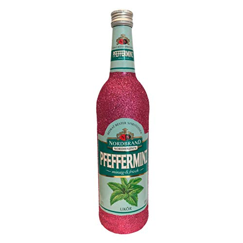Glitzer Pfeffi 700ml (18% Vol) - Bling Glitzerflasche rose