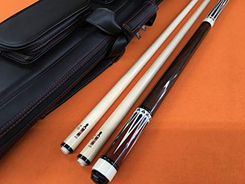 Lowest Prices! TRUJILLO Theory Carom CUE with 2 SHAFTS & TOP Notch Leather CASE.
