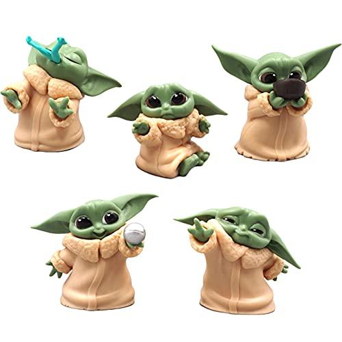 JPYH 5 PCS Adornos de Star Wars Decoración de Pasteles,Star Wars Figura...