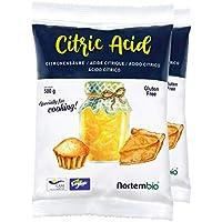 NortemBio Ácido Cítrico 1 kg (2x500g). La Mejor Calidad Alimentaria. Insumo Ecológico. Polvo, 100% Puro. E-Book Incluido.