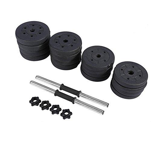 AYNEFY Hantel Gewicht,Hantelstangen Kunststoff Hantel Hantelscheiben Sets inkl 2 Kurzhantelstangen Gewichten (Kunststoff) und Sternverschlüssen für das Krafttraining und Kraftausdauer