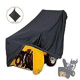 Rziioo 210D Lanzador de Nieve Cubierta, Impermeable, protección UV, Cubiertas Universal soplador de Nieve para la Mayor Parte eléctrica Etapa Dos quitanieves, 50' x 43' H x 35' W