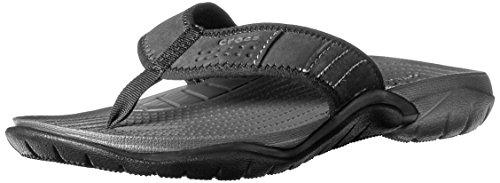 crocs Men's Swiftwater M Flip Flop, Graphite/Black, 9 M US
