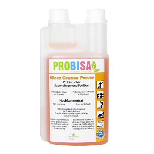 Potente desengrasante concentrado Probisa Micro Grease Power – el limpiador de fuerza a base natural para cocina, hogar y gastronomía (1 L) Concentrado resulta, 50 litros Super limpiador)